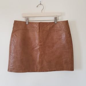 Genuine Leather Mini Skirt